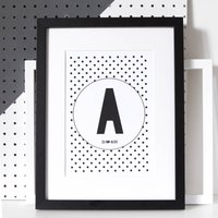 Personalised Polka Dot Letter Or Number Print