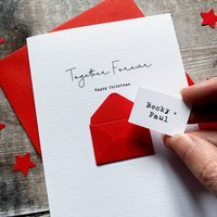 Personalised Together Forever Christmas Card
