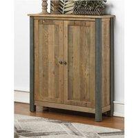 Harringay Reclaimed Wood Shoe Storage Cupboard Large
