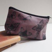 Soft Leather Butterflies Makeup Bag