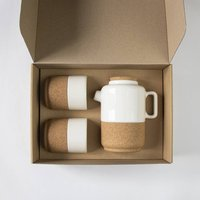 Cork + Ceramic Tea For Two Gift Set