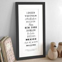 Personalised Typographic Destination Print