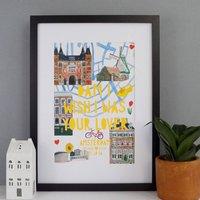 Personalised Amsterdam Landmark Papercut Print