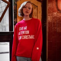'Give Me Attention For Christmas' Slogan Jumper
