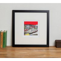 Ashburton Grove Arsenal's Football Ground Print, Black