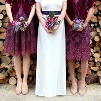 Bespoke Bridesmaid Dresses In Rosewood Lace