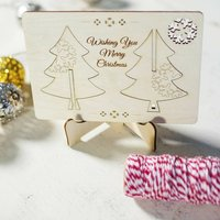 3D Greeting Card With Christmas Tree Decoration