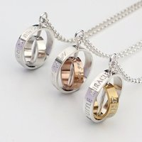 The Day My Life Changed Silver And Gold Plated Necklace, Silver