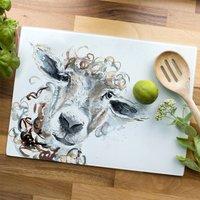 Inky Sheep Glass Worktop Saver