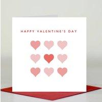 'Happy Valentine's Day' Hearts Card