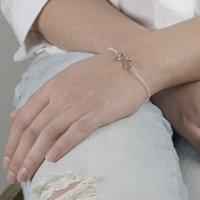 Sterling Silver Infinity Bracelet, Silver