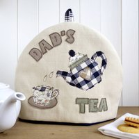 Personalised Tea Cosy Gift For Him, Cream/Blue/Red