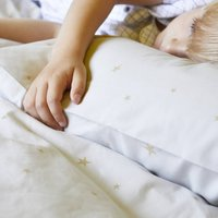 Grey Starry Sky Duvet Set In Cot Bed And Single