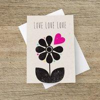 'Love Love Love' Greetings Card