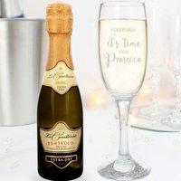 Mini Prosecco And Personalised Glass Set