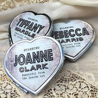 Personalised Vintage Graphic Compact Mirror