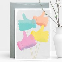 Thumb Balloons Good Luck/Congrats Greeting Card