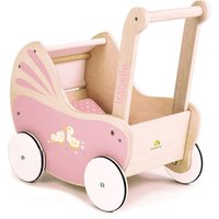 Personalised Wooden Dolls Pram And Bedding
