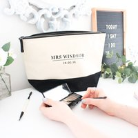 Mrs Wedding Day Cosmetic Bag