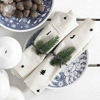 Handmade Vintage Scandi Christmas Fabric Napkins