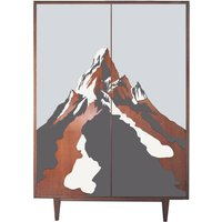 Mid Century Formica Alpine Design Large Wardrobe