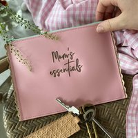 Handbag Organiser Pouch In Leather Embroidered