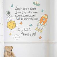 Children's Space Zoom Zoom Wall Sticker