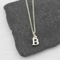 Sterling Silver Handmade Initial Pendant, Silver