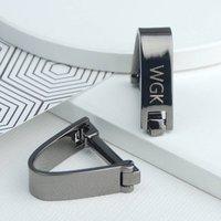 Contemporary Gunmetal Wrap Cufflinks