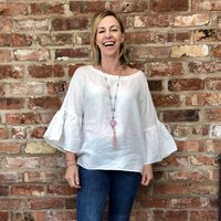 Sew Your Own Hannah Linen Blouse Pre Cut Sewing Kit