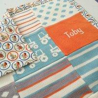 Personalised Tractors Baby Blanket