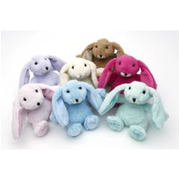Mini Soft Toy Bunny, Gift Boxed, Pink/Green