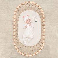 Pink Organic Cotton Sleepsuit And Teething Ring Set