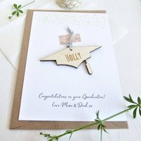 Personalised Name Graduation Card