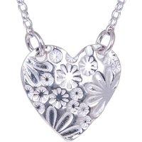 Silver Heart Necklace, Silver