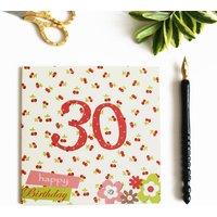 30th Birthday Card With Crystal Gem