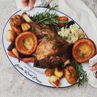 Personalised Roast Dinner Enamel Serving Platter