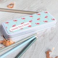 Personalised Flamingo Pencil Tin Case