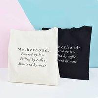 Motherhood Tote Bag, Black