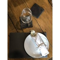 Natural Welsh Slate Placemats And Coasters 12pc