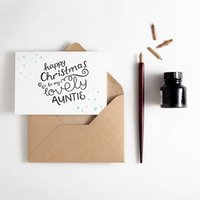 To My Auntie Letterpress Christmas Card