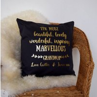 Personalised Marvellous Gran Cushion