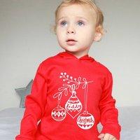Personalised Christmas Bauble Kid's T Shirt / Hoodie
