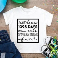 Personalised Third Days/ Months/ Years Birthday T Shirt