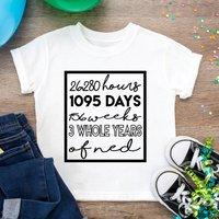 Personalised Third Days/ Months/ Years Birthday T Shirt