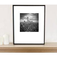 Happisburgh, Black And White, Art Print