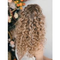 Crystal Or Freshwater Pearl Plait Hair Vine Celine 'Y'