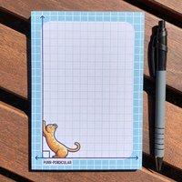 Purr Pendicular Maths Pun Notepad