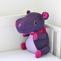 Hippo Soft Toy Large Handmade And Personalised