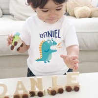 Personalised Dinosaur Baby T Shirt
